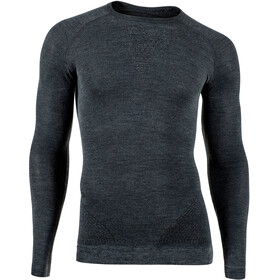 UYN Fusyon Cashmere UW LS Shirt Men grey rock/black